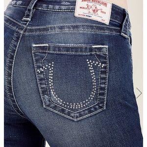 True religion skinny jeans rhinestone